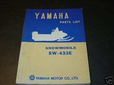1971 YAMAHA SNOWMOBILE SW-433E  PARTS MANUAL