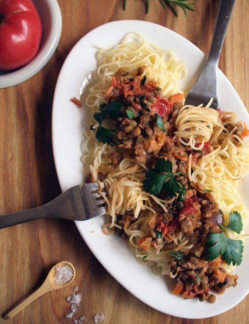 Lentil Bolognese {vegan, gluten-free}