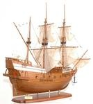 Golden Hind ship model (partially painted)