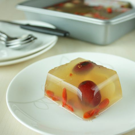 Red Dates, Goji Berries, and Longan Jelly