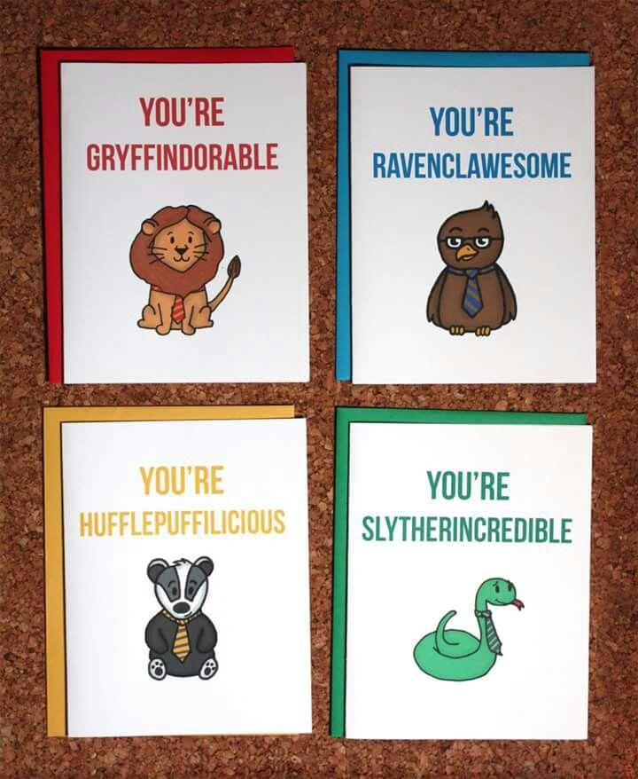 Hogwarts houses cards!