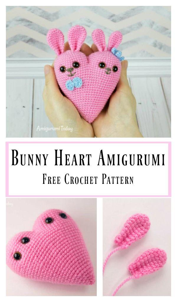 Amigurumi bunny with a heart | Amiguroom Toys | 1025x600