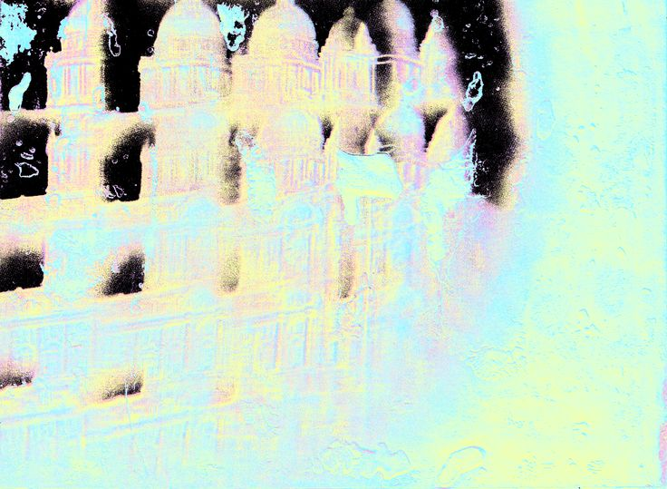Over edited Emulsion prints, originally inspired by Hiroko Inoue.