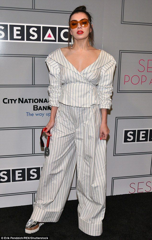 Bold:Charli XCX opted for a typically kooky ensemble as she attended the 2017 SESAC Pop Awards in New York City on Thursday