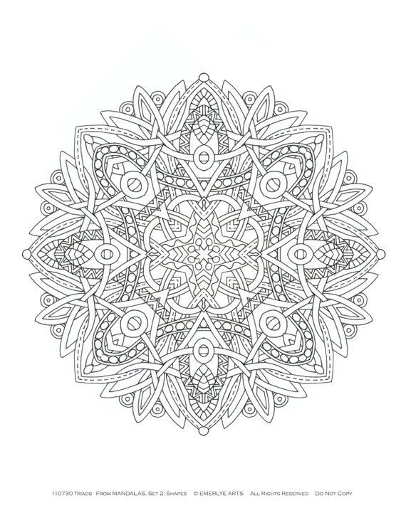 6542 best images about to color on pinterest coloring for adults coloring pages and flower - Mandala pour adulte ...