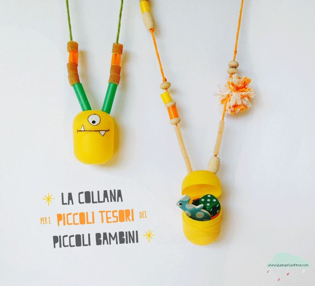 Quandofuoripiove: D.I.Y. necklace to keep the kids little tresures