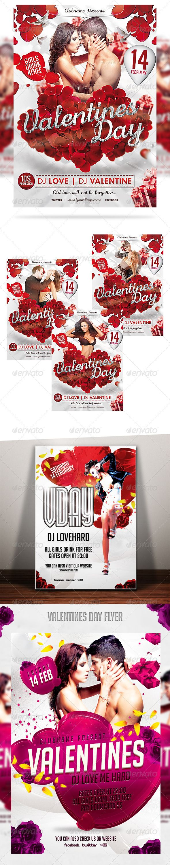 Valentines Day Flyer Bundle