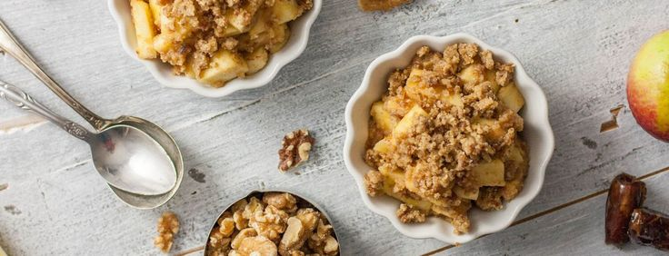 This raw apple crumble dessert is easier and faster to make than an apple pie or crisp, and it requires no baking.