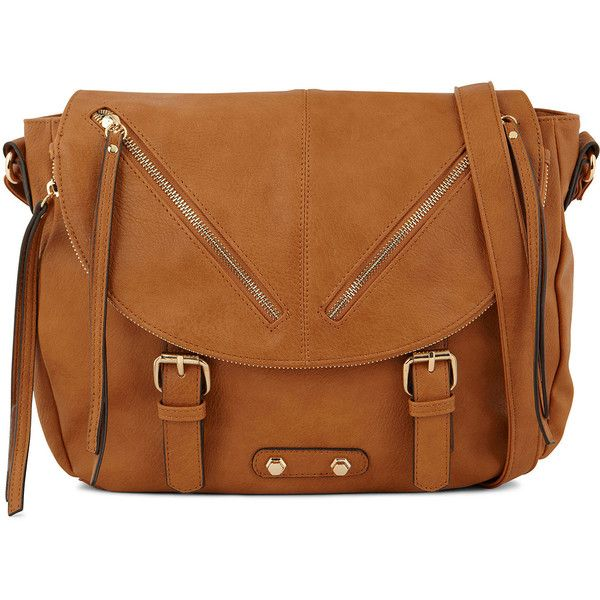 Call It Spring™ Manoppello Satchel ($42) ❤ liked on Polyvore featuring bags, handbags, purses, call it spring, brown bag, brown handbags, brown satchel and buckle purses