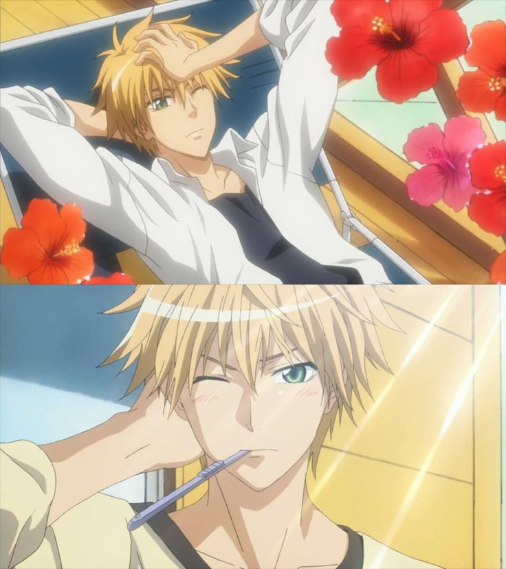 Usui Takumi (The perverted alien). He may be a pervert but with his sweet charm and love for Misaki. I could only wish there was a guy out there like that.