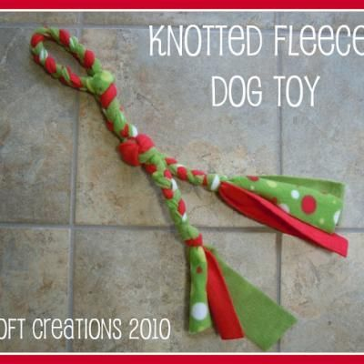 Knotted Fleece Dog Toy - I know a few dogs who are going to like this!