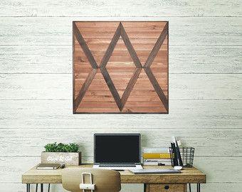 Wood Wall Art, Reclaimed Wood Art, Geometric Wood, Wood Wall Hanging, Chevron Wall, Wood Sculpture, Country Decor, Reclaimed Wall Art,