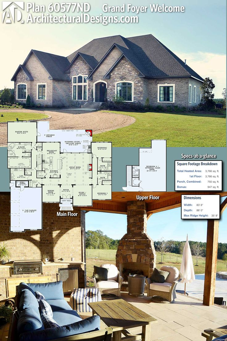 Grand Foyer Welcome House Plan : Best architectural designs editor s picks images on