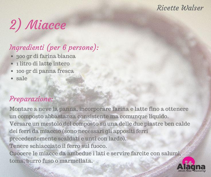 Miacce - Alagna Valsesia, ricette Walser. #ricette #Valsesia #Walser #food #cucina #viaggi #Piemonte