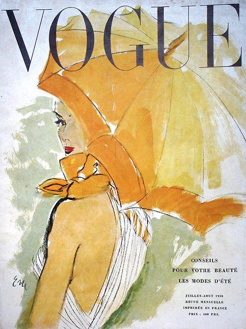 Vogue Paris cover, July/August 1950.