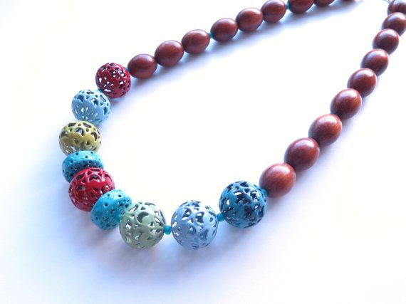 Sunday Play multi colour enameled beaded by sashaandmaxstudio