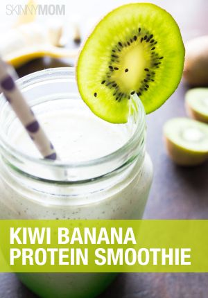 Get summer started off right with this tasty kiwi banana protein smoothie.