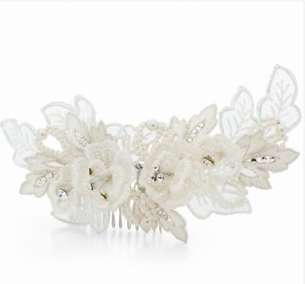 Clementine Bridal Comb - Ivory