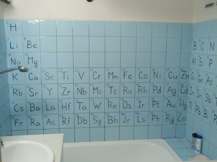 Periodic Bathroom--Zach got his B.S. in chemistry, so this would be perfect for him!