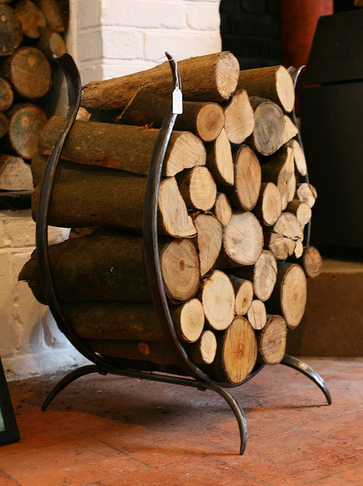 Hand Forged Log Basket by TheArtistBlacksmith on Etsy https://www.etsy.com/listing/281402122/hand-forged-log-basket
