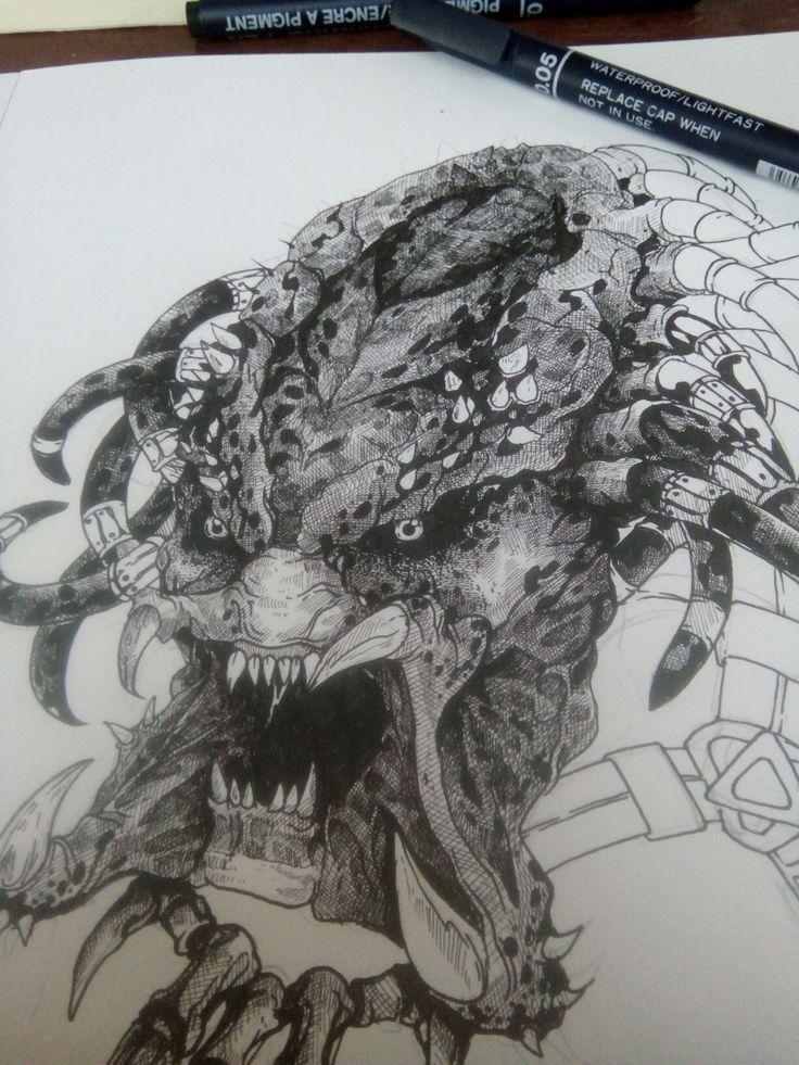 #Predator drawing wip #art