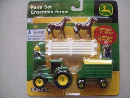 Ertl John Deere 10 Piece Farm Set By Ertl. $12.95. Made In 2010.