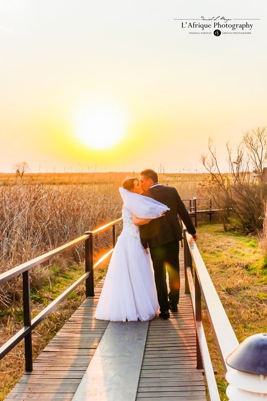 a beautiful photo in the sunset on the bridge @Kloofzicht Lodge