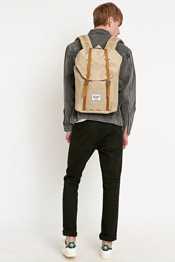 herschel supply co retreat backpack in beige urban outfitters male ideas of backpack. Black Bedroom Furniture Sets. Home Design Ideas