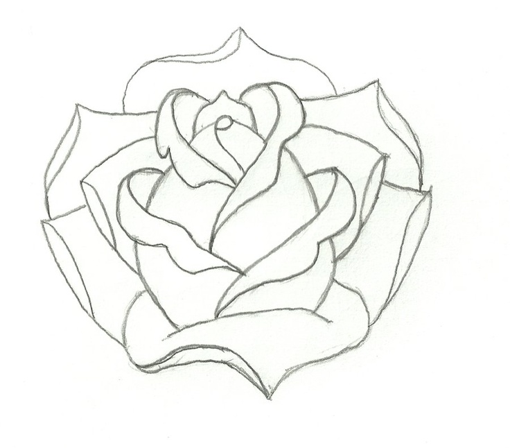 Line Drawing Embroidery : Rose outline embroidery pinterest roses and