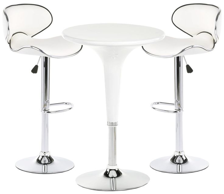 Pub set with 1 round cocktail table 2 adjustable for Round cocktail table with stools