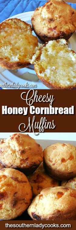This Cheesy Honey Cornbread recipe is a great change from the usual cornbread we make for most meals. The Cheese and the honey are a great addition.