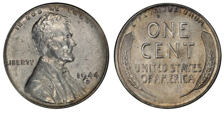 1944-D Steel Cent PCGS AU55 CAC, one of the rarest of all pennies (Estimate: $50,000-$55,000). From Legend-Morphy's Dec. 13, 2012 Regency Auction at PCGS Members-only Show in Las Vegas.