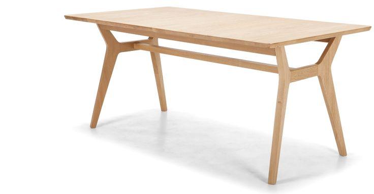 Jenson uitschuifbare eettafel, in eikenhout | made.com Lengte 170cm of 210cm x Breedte 90cm x Hoogte 74cm