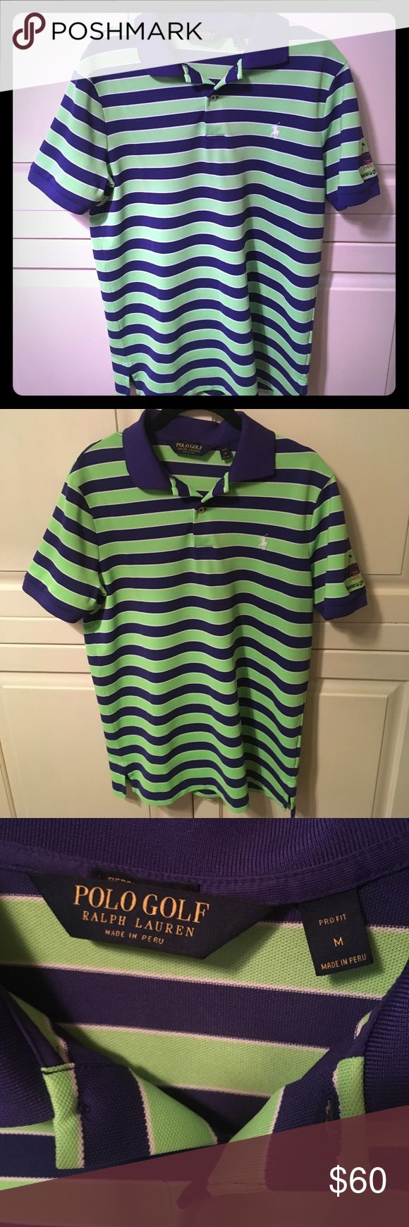 Polo Golf Performance Shirt Polo Ralph Lauren Golf shirt from the Country Club in California Rancho La Quinta! My boyfriend loves it but it is a tight fit for a Medium. BRAND NEW NEVER WORN - we took tag off and are looking for it currently. Polo by Ralph Lauren Shirts Polos