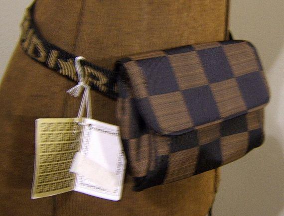 vintage fendi new with tags purse fanny pack gunny sack ff monogram zukka waist purse on etsy
