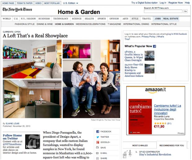 Design-Apart è sul New York Times! | Design-Apart