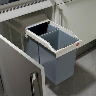 Poubelle encastrable avec deux seaux MULTI-BOX 2X15 - Cr�me