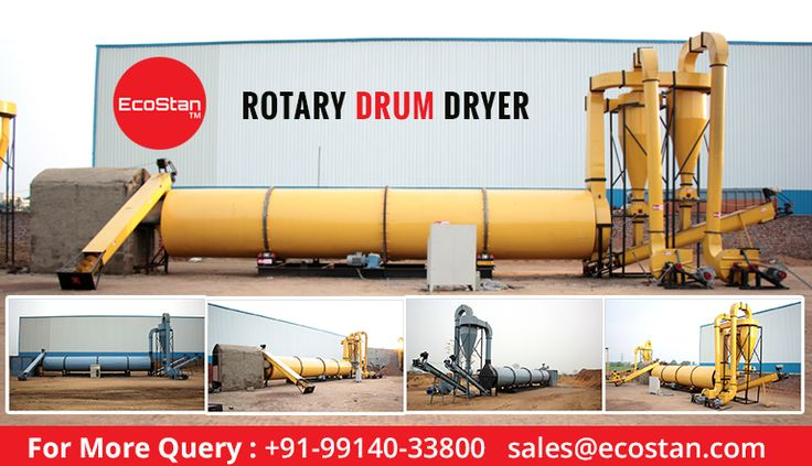 Get the best replacement of normal industrial dryer to #RotaryDrumDryers. So move to the best and advanced industrial machines by #EcoStan at reasonable costs.