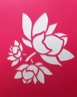 Pochoir | stencils pochoirs: pochoir stencil fleur de lotus