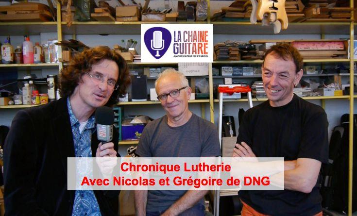 Après l'interview et présentation de la Chronique Lutherie DNG, voilà le premier volet où je fais parler Grégoire et Nicolas sur les bois de lutherie. La vidéo contient un extrait de cette première chronique.