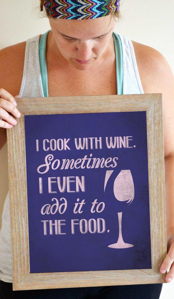 Wine Quote Art Print Kitchen Wall Decor by SmartyPantsStudio, $21.00