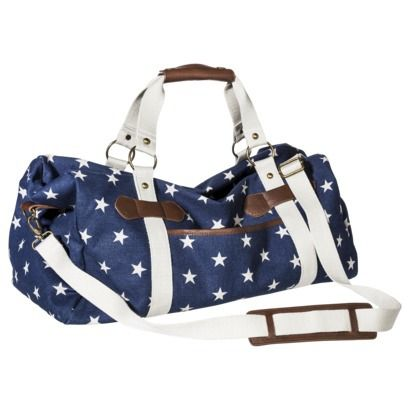 Star Print Weekender Duffle Handbag With Removable Shoulder Strap Navy Yes Please Need This Immediately My Style Pinterest Handbags