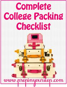 The Monogrammed Life: B2S: The Complete College Packing Checklist