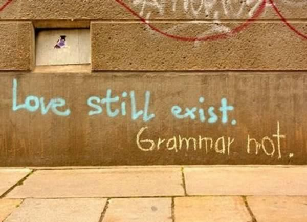 12 Funny Photos of Grammar Nazis Correcting Mistakes - ODDEE. It's a good thing I don't carry an indelible marker with me.