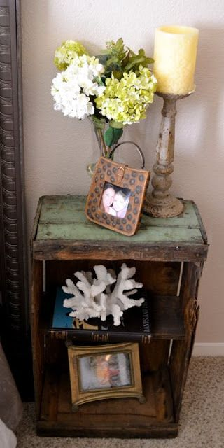 the poor sophisticate: Fruit Crate Night Stands And Side Tables