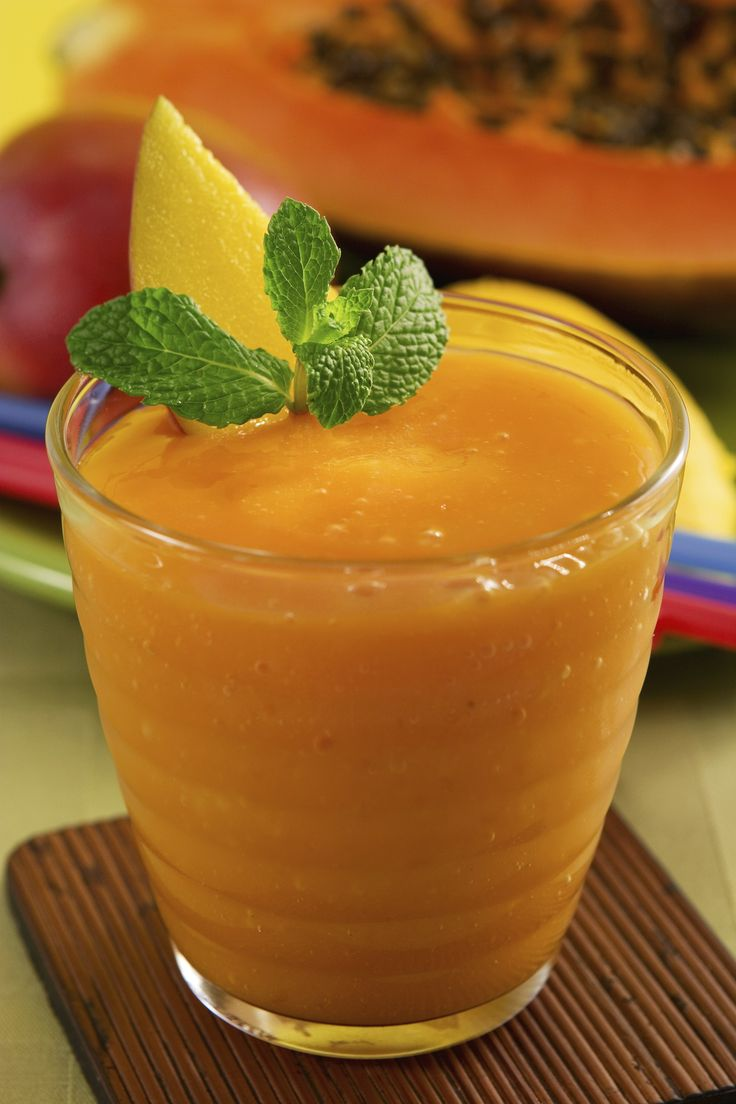 Flat Tummy Smoothie Recipe – The addition of ginger and mint make this delicious orange smoothie your best friend when it comes to beating bloat! Get the recipe at spryliving.com