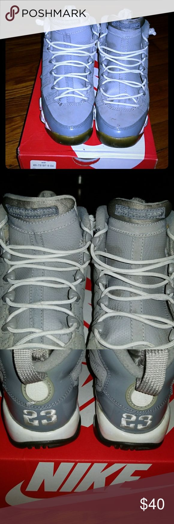 Air Jordan Cool Grey 11s Worn Cool Grey 11s. Good condition 6/10. SIZE 3.5 kids. 100% Authentic. Jordan Shoes Sneakers