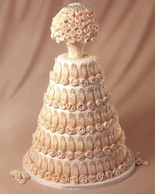 Tarta de boda muy elaborada