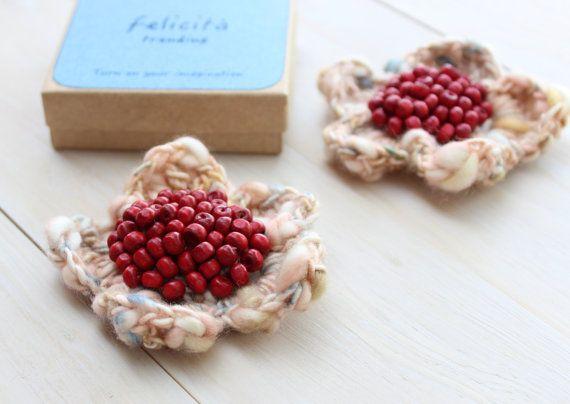 #Brooch #Flower brooch #pin brooch #crochet jewellery