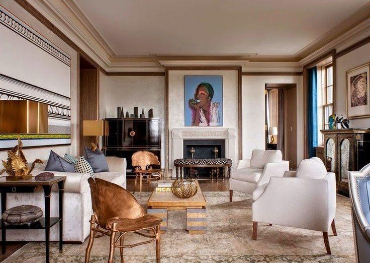 dcoration intrieur salon classique avec chaises ginkgo biloba - Decoration Salon Classique